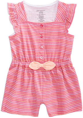 First Impressions Striped Romper, Baby Girls, Created for Macy's