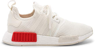 adidas NMD R1 in Off White & Off White & Lush Red | FWRD