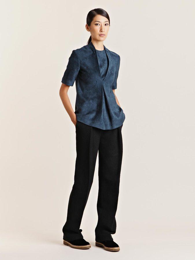mento Women's Chenille Short Sleeve Top