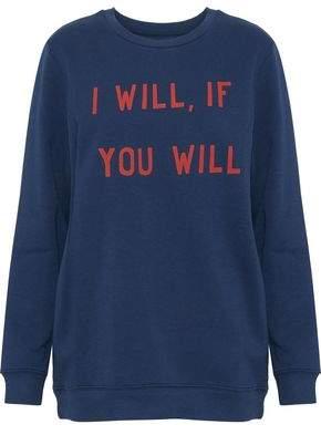 Zoe Karssen Printed Cotton-Blend Sweatshirt