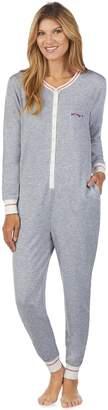 Cuddl Duds Women's Printed One-Piece Pajamas