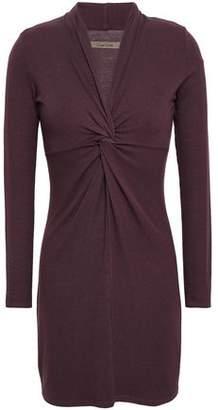 Enza Costa Twist-front Jersey Mini Dress