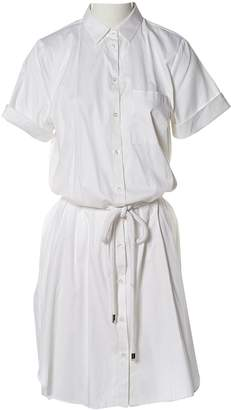 HUGO BOSS White Cotton - elasthane Dresses