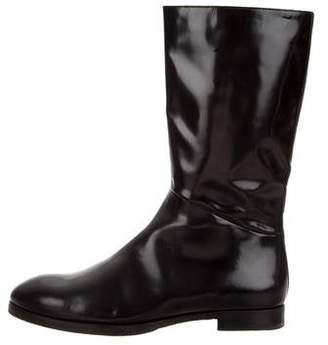 Prada Patent Leather Mid-Calf Boots