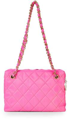 9ba9c7680 Chanel Pink Quilted Fabric Shoulder Bag