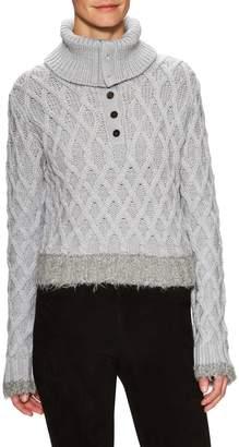 Derek Lam 10 Crosby Women's Wool Cable Knit Turtleneck Sweater