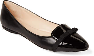 Nine West Black Saxiphone Leather Pointed Toe Flats