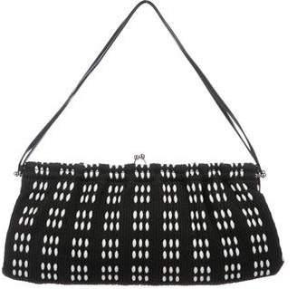 Miu Miu Canvas Kiss-Lock Bag