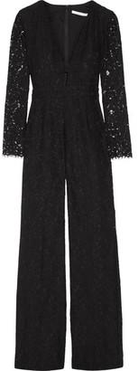 Diane von Furstenberg - Kyara Corded Lace Jumpsuit - Black $600 thestylecure.com