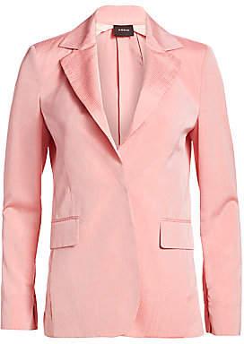 Akris Women's Ace Zip Sleeve Seersucker Blazer