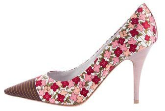 Louis Vuitton Satin Floral Pumps