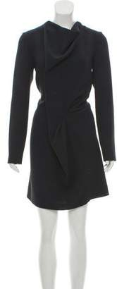 Cacharel Crepe Knee-Length Dress