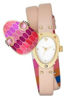 Kate Spade Double Wrap Leather Snake Watch