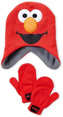 Sesame Street Toddler Boys) Elmo Hat & Mittens Set