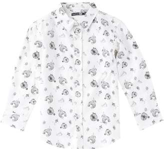 boohoo Boys Space Print Long Sleeve Shirt