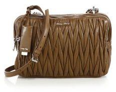 Miu MiuMiu Miu Matelasse Leather Camera Bag