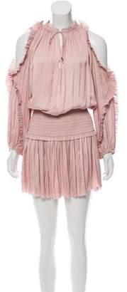 Ulla Johnson Ruffle-Trimmed Cold-Shoulder Dress