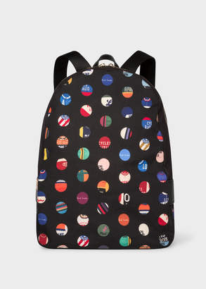 Paul Smith Men's 'Cycle Dot' Print Canvas Backpack