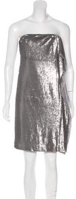 Halston Strapless Sequined Dress