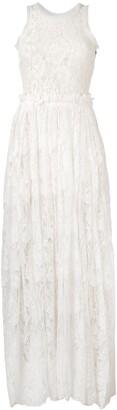 Lanvin Pre-Owned 2000 long lace dress