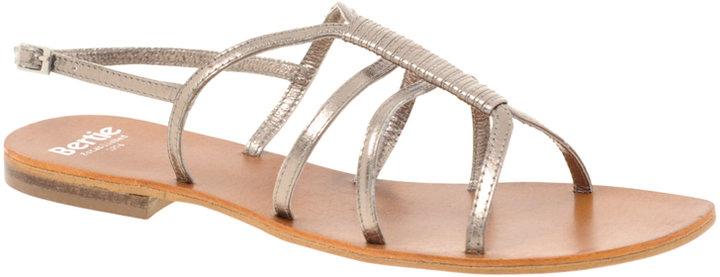 Bertie Fiji Strippy Slingback Flat Sandal