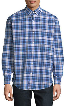 Izod Newport Plaid Relaxed-Fit Oxford Shirt