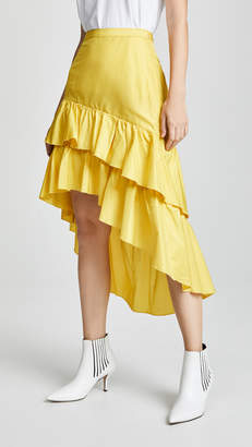 Cynthia Rowley High Low Tiered Ruffle Skirt