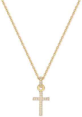Swarovski Gold-Tone Pave Crystal Mini Cross Necklace