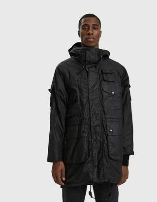 Engineered Garments Barbour Zip Parka in Black
