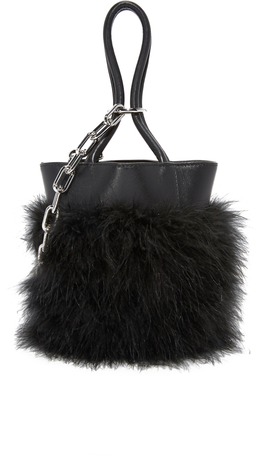 Alexander Wang Alexander Wang Feather Roxy Mini Bucket Bag