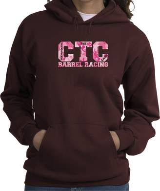 Charlie Horse Apparel Barrel Racers Pink Camo Chasing The Cans Hooded Sweatshirt