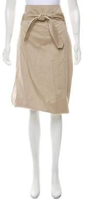 Pauw High-Rise Knee-Length Skirt