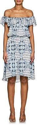 L'Agence WOMEN'S LEONIE PAISLEY-FLORAL SILK DRESS