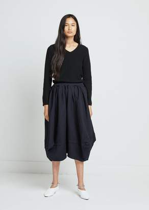 Comme des Garcons Polyester Serge Garment Treated Skirt