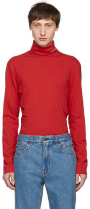 Calvin Klein Red Classic Turtleneck
