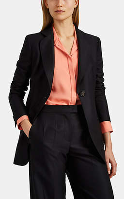 Giorgio Armani Women's Virgin Wool One-Button Blazer - Black