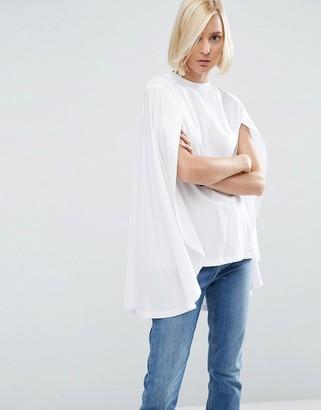 ASOS White ASOS WHITE Extreme Cape T-Shirt $53 thestylecure.com