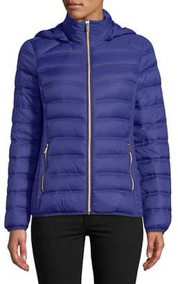 "MICHAEL Michael Kors 25"" Short Packable Sapphire Jacket"