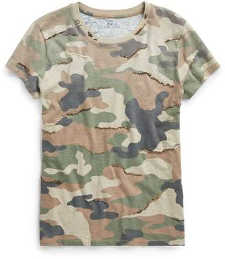 Ralph Lauren Sequined Camo Cotton T-Shirt