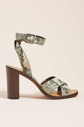 Dolce Vita Nala Calf-Hair Heeled Sandals