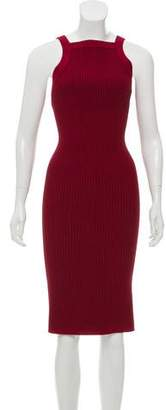 Alaia Ribbed Midi Dress