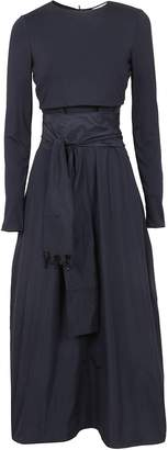 Max Mara Blue Viscose And Technical Fabric Suit Of Clothes