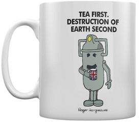 Doctor Who Mr Men Cyberman Tea First 10Oz White Ceramic Mug