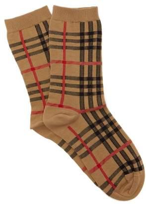 Burberry Vintage Check Cotton Blend Socks - Womens - Beige
