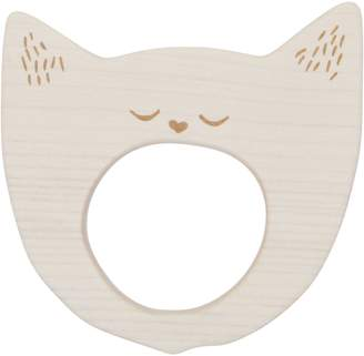 story. Wooden Yawning Cat Wooden Teether
