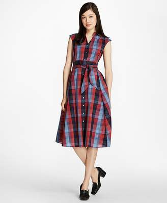 Plaid Cotton Shirtdress $228 thestylecure.com