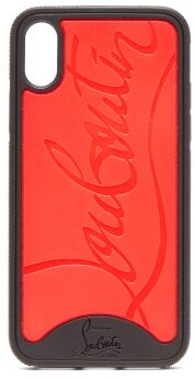 Christian Louboutin Loubiphone Logo Iphone X Case - Womens - Black Red
