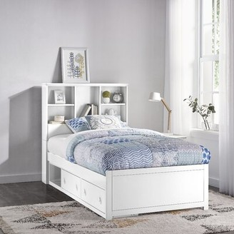 Harriet Bee Body Caspian Twin Mate's & Captain's Bed with Drawers and Bookcase Harriet Bee