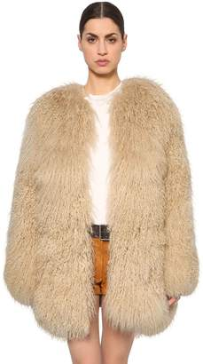 Saint Laurent Mongolian Fur Coat