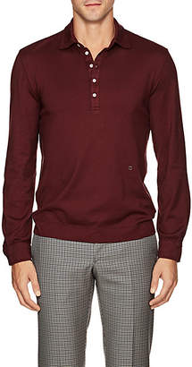 Massimo Alba Men's Cotton-Cashmere Polo Shirt - Wine